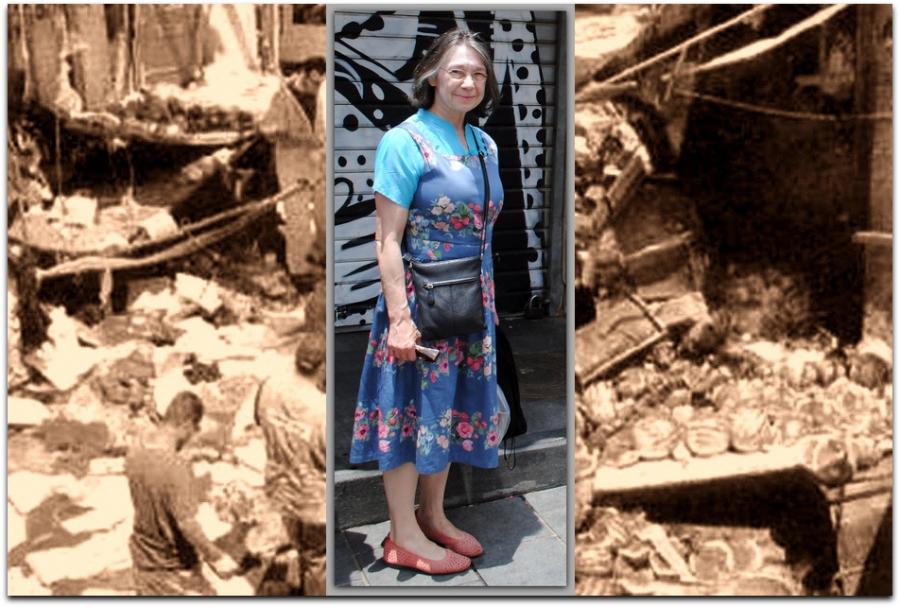 Petra Heldt standing in Jerusalem